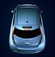 2012 Nissan Leaf, Back View. , manufacturer, exterior