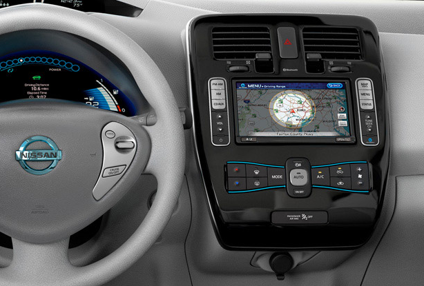 2012 Nissan Leaf, Steering Wheel. , interior, manufacturer