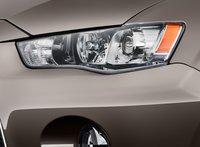 2012 Mitsubishi Outlander, Headlight., exterior, manufacturer