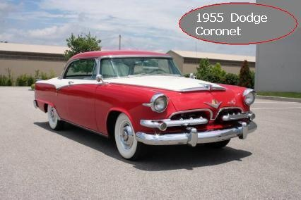1955 Dodge Coronet, 2 door hardtop with a 271 CI V8 and automatic trans., exterior