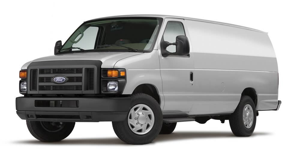 2012 Ford E-Series Cargo, exterior front left quarter view, manufacturer, exterior