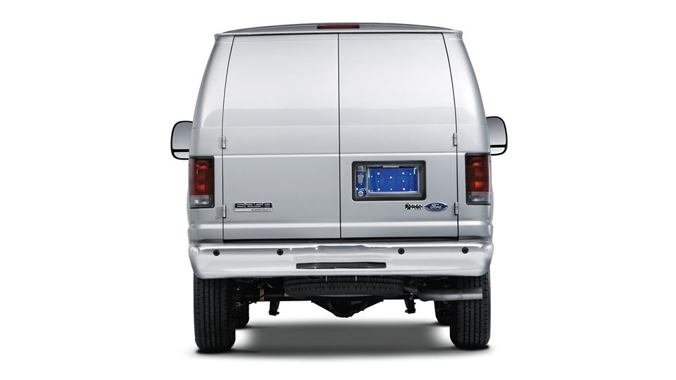 2012 Ford E-Series Van, exterior rear view, manufacturer, exterior