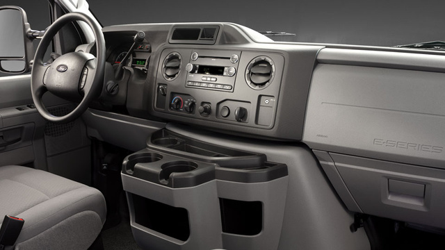 2012 Ford E-Series Cargo, interior drivers, interior, manufacturer
