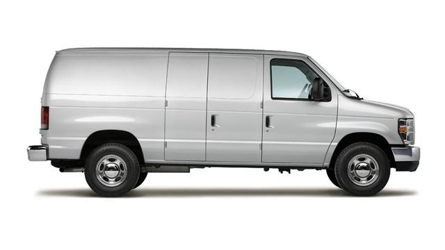 2012 Ford E-Series Cargo, exterior side view, exterior
