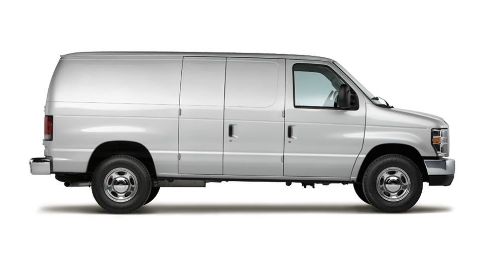 2012 Ford E-Series Cargo, exterior side view, exterior