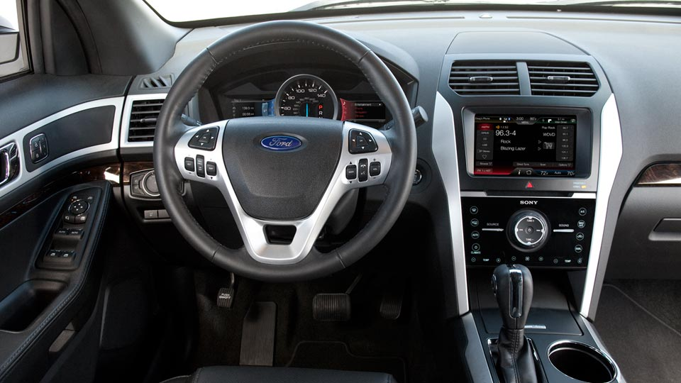 2012 Ford Explorer, interior drivers view, interior, manufacturer