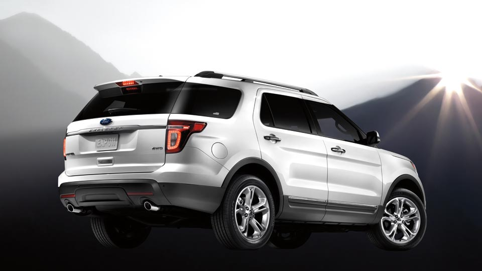 2012 Ford Explorer, exterior right rear quarter view, manufacturer, exterior