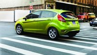 2012 Ford Fiesta, exterior rear quarter view, exterior, manufacturer