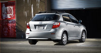 2012 Toyota Matrix, exterior rear quarter view, exterior, manufacturer