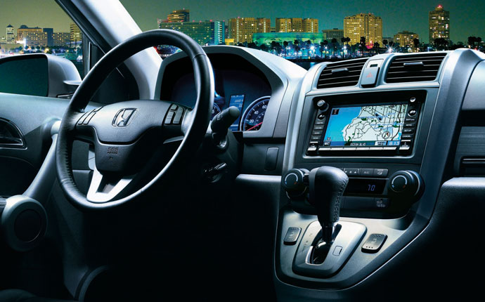 2012 Honda CR-V, interior steering and navigation, manufacturer, interior