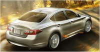 2012 INFINITI M Hybrid, Rear quarter, exterior, manufacturer