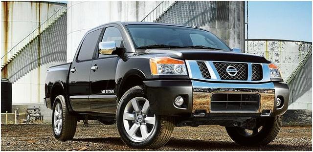 2012 Nissan Titan, Front quarter, exterior, manufacturer