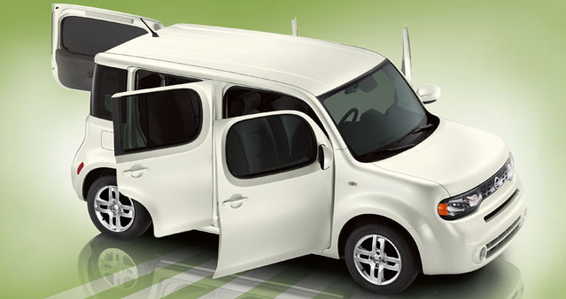 2012 Nissan Cube, Side Door with open doors. , manufacturer, exterior
