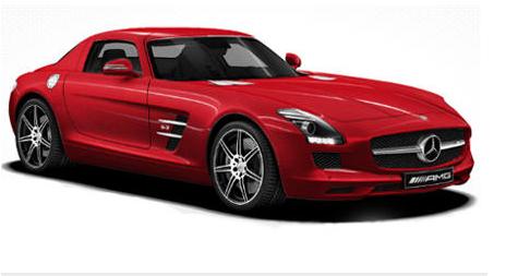 2012 Mercedes-Benz SLS-Class, Fornt quarter view copyright Yahoo Autos. , exterior