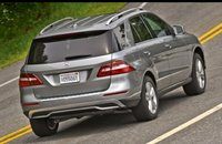 2012 Mercedes-Benz M-Class, Back quarter view. , manufacturer, exterior