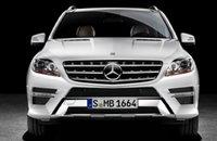 2012 Mercedes-Benz M-Class, Front View. , exterior, manufacturer