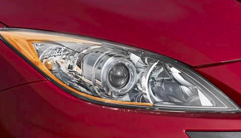 2012 Mazda MAZDASPEED3, Headlight. , manufacturer, exterior