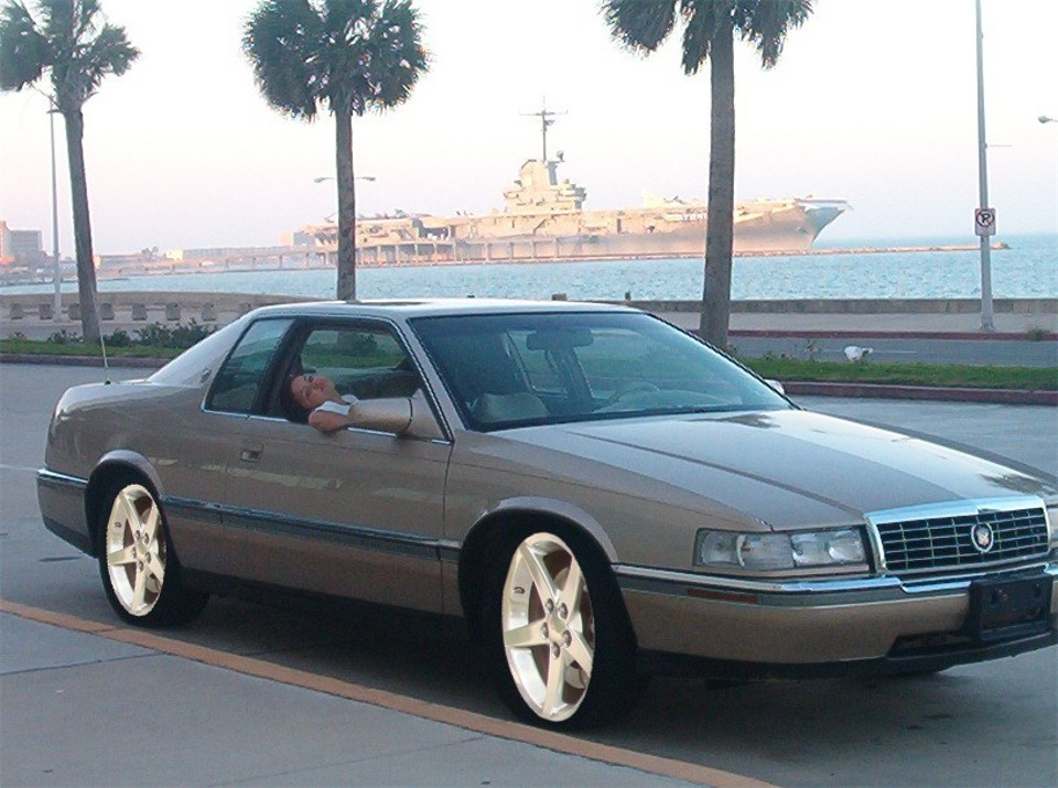 1994 Cadillac Eldorado Base Coupe, Sittin on Corvette wheels with a 2 drop, exterior