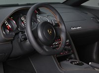 2012 Lamborghini Gallardo, Close-up to steering wheel copyright AOL Autos. , interior, manufacturer