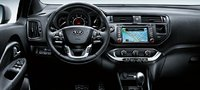 2012 Kia Rio, Close-up of steering wheel. , interior, manufacturer