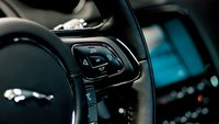2012 Jaguar XJ-Series, CLose-up of steering wheel. , interior, manufacturer