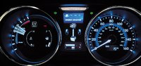 2012 Hyundai Sonata Hybrid, Close-up of instrument gages. , interior, manufacturer