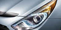 2012 Hyundai Sonata Hybrid, Close-up of headlight. , exterior, manufacturer