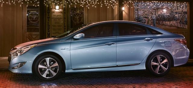2012 Hyundai Sonata Hybrid, Side View., exterior, manufacturer
