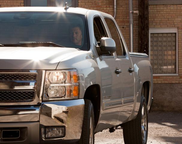 2012 Chevrolet Silverado Hybrid, Front quarter view. , exterior, manufacturer