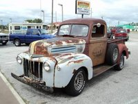 1948 Ford F-100, 1947 Ford F-1 with a 318 Plymouth (old style) engine. It still had the top shifter, non-syncro factory transmission with an adapter bell-housing., exterior