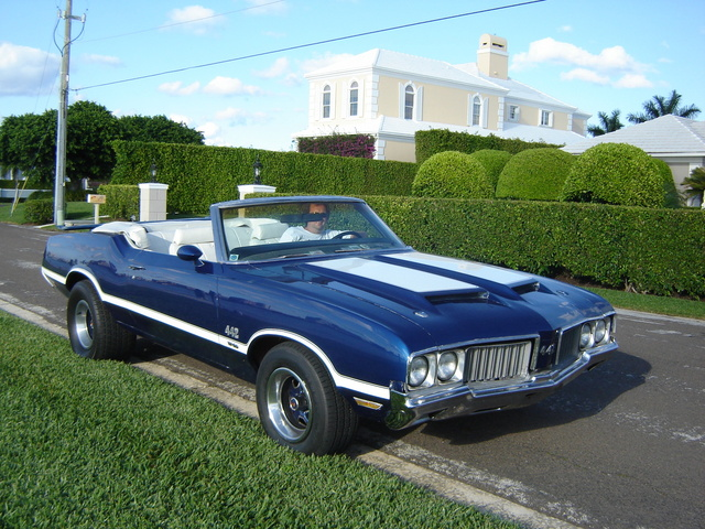 club442 1970 olds 442 w30 blue convertible