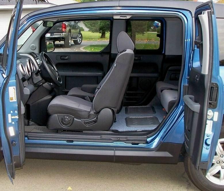 Honda Element Interior Dimensions: 2008 Honda Element