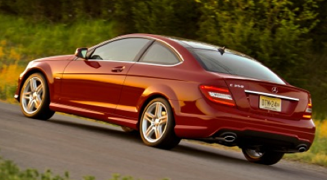 2012 Mercedes-Benz C-Class, Back quarter view. , manufacturer, exterior