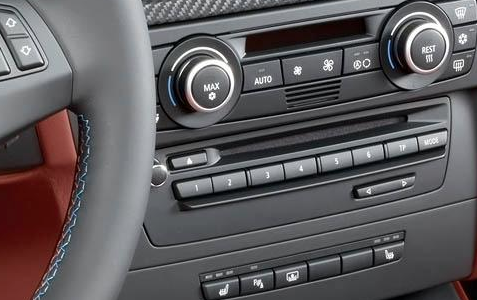 2012 BMW M3, Close-up of stereo. , manufacturer, interior