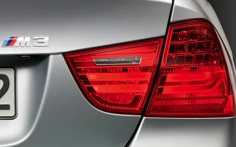 2012 BMW M3, Close-up of tail light. , manufacturer, exterior