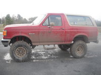 1989 Ford Bronco, After the lift and tires..., exterior