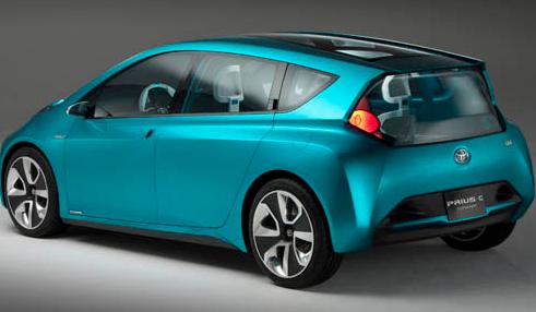 2012 Toyota Prius c, Back quarter view. , exterior, manufacturer