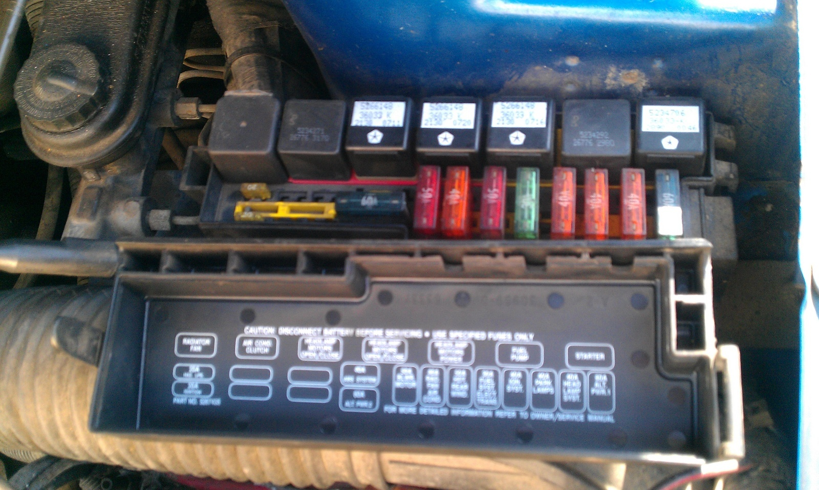 Fuse Box Diagram For 1989 Ford Bronco 2 Layout Wiring Diagrams 94 Aerostar Dodge Daytona Questions My Fuel Pump Stays On After I 1994