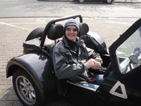 2004 Caterham Seven, in the 7 for my maiden drive from Ostend to home, exterior