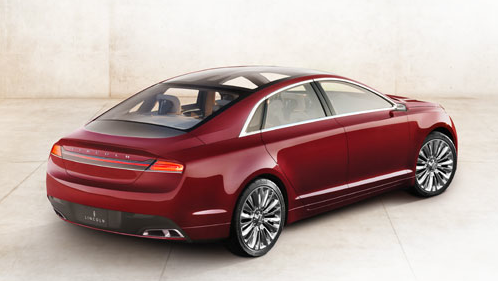 2013 Lincoln MKZ, Back quarter view. , exterior, manufacturer