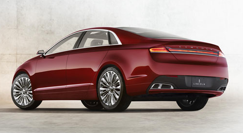 2013 Lincoln MKZ, Back quarter view., exterior, manufacturer