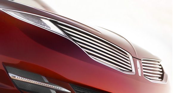 2013 Lincoln MKZ, Close-up of the hood., manufacturer, exterior