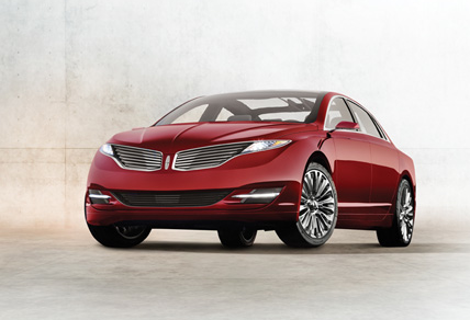 2013 Lincoln MKZ, Front quarter view., exterior, manufacturer