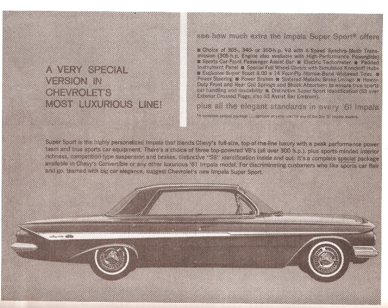 Worksheet. Chevrolet Impala Questions  Was there ever any 4 door 1961 SSs