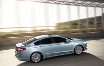 2013 Ford Fusion, Back quarter view. , exterior, manufacturer