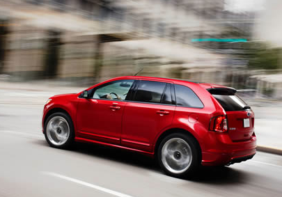 2013 Ford Edge, Back quarter view. , manufacturer, exterior