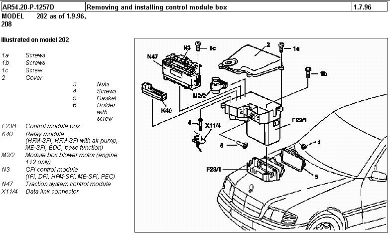 2000 mercedes c280 fuse box diagram