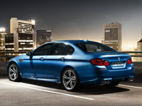 2012 BMW M5, exterior rear left quarter view, manufacturer, exterior
