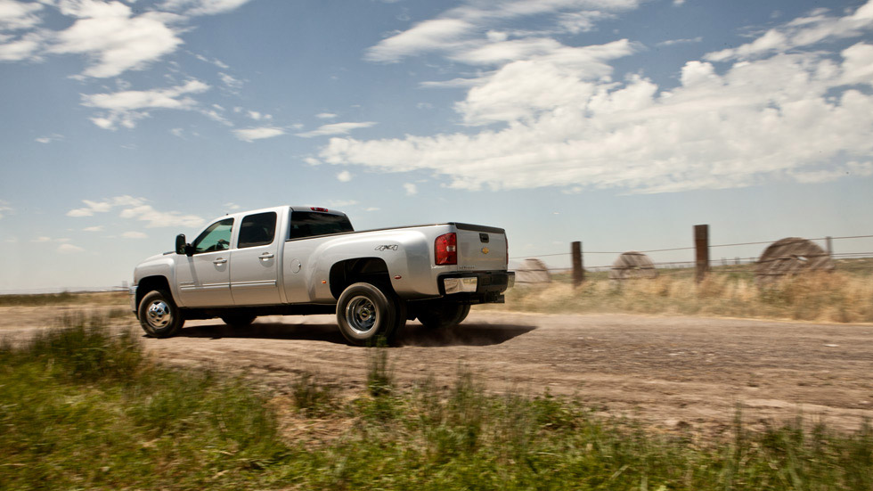 2012 Chevrolet Silverado 3500HD, exterior rear left quarter view, manufacturer, exterior