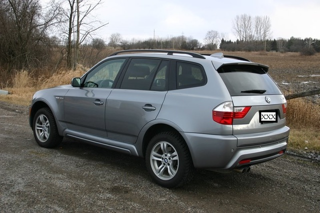 2009 BMW X3 xDrive30i AWD, Rear view, exterior, gallery_worthy